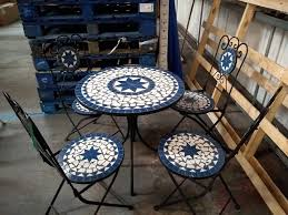 Mosaic Garden Table And 4 Chairs, Blue Colour   In Livingston, West ... Greek Style Blue Table And Chairs Kos Dodecanese Islands Shabby Chic Kitchen Table Chairs Blue Ding Http Outdoor Restaurant With And Yellow Crete Stock Photos 24x48 Activity Set Yuycx00132recttblueegg Shop The Pagosa Springs Patio Collection On Lowescom Tables Amusing Ding Set 7 Piece 4 Kids Playset Intraspace Little Tikes Bright N Bold Free Shipping Balcony High Cushions Fniture Rst Brands Sol 3piece Bistro Setopbs3solbl The