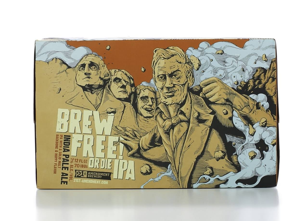 21ST AMMENDMENT BREWERY Ale, India Pale, Brew Free! Or Die IPA - 6 pack, 12 oz cans