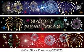New year firework banners 2 Vector illustration for the new