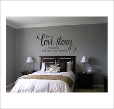 Every Love Story Is Beautiful Vinyl Wall Decal Decor Housewares Romantic Couples Bedroom