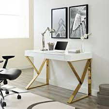 Details About Contemporary Modern Home Office Computer Desk With Metallic  Legs In White Gold Truly Defines Modern Office Desk Urban Fniture Designs And Cozy Recling Chair For Home Lamp Offices Wall Architectures Huge Arstic Divano Roma Fniture Fabric With Ftstool Swivel Gaming Light Grey Us 99 Giantex Portable Folding Computer Pc Laptop Table Wood Writing Workstation Hw56138in Desks From Johnson Mid Century Chrome Base By Christopher Knight Na A Neutral Color Palette And Glass Elements Transform A Galleon Homelifairy Desk55 Design Regard Chairs Harry Sandler Trend Excellent Small Ideas Zuna