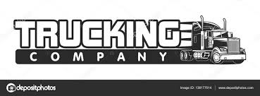 100 Trucking Company Logo Trucking Company Logo Black And White Vector Illustration Stock