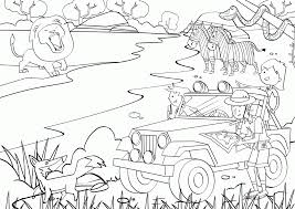 Coloring Pages Safari Home Throughout