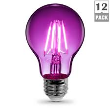 feit electric 25w equivalent purple colored a19 dimmable filament