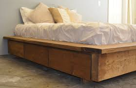 Image Of Platform Bed Storage Without Headboard