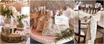 Vintage Elegant Wedding Set Up Burlap And Lace Rustic