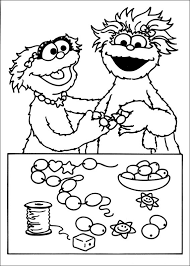 Sesame Street Coloring Pages Numbers