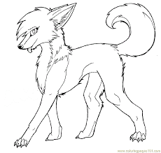 Coloring Pages Female Wolf Mammals Fox