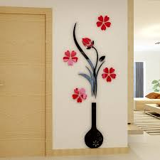 Wall Decoration For Living Room Ideas Decor Designing Blcak Red Modern Stickers