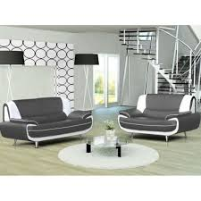 canapé simili cuir gris canapé 3 2 places gris et blanc marita achat vente canapé sofa