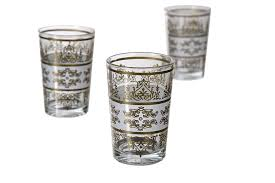 Spode Christmas Tree Juice Glasses by Amazon Com Casablanca Market Moroccan Tunis Tea Glass White