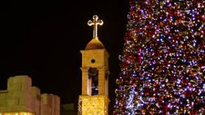 Christmas Tree And A Cross Church