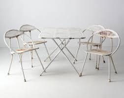 Salterini Iron Patio Furniture by Vintage Woodard Wrought Iron Salterini Patio Settable U0026 4