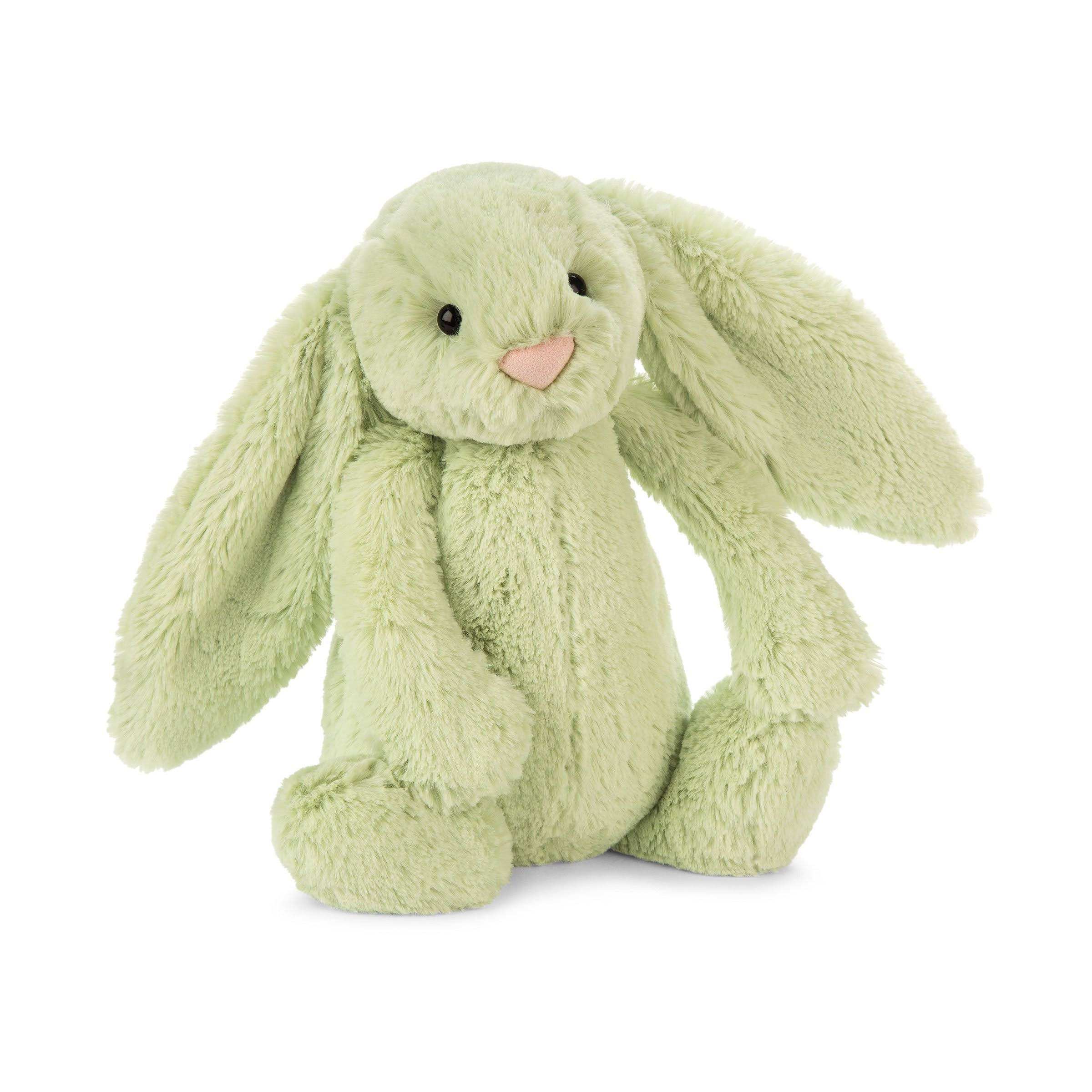 Jellycat Bashful Kiwi Bunny Stuffed Animal Medium