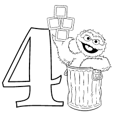 Free Oscar The Grouch Coloring Pages