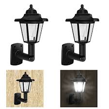 2 pack of solar powered vintage wall lights outdoor