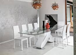 Glass Dining Room Table Target by Eclipse Contemporary Rectangular Extending Glass Dining Table