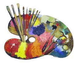 Artists Palette And Supplies Transparent PNG Sticker Fox