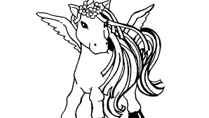 Realistic Horse Coloring Pages For Printable Unicorn And Fantasy Flying