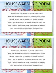 Click Here To Access Printable Housewarming Poem Game Sheet