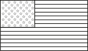 Full Image For Printable Us Flag Coloring Page With American Color Pdf