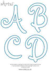 Fonts String Art TemplatesLetter