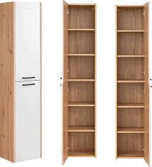 lomado badezimmer hochschrank 2 türig matera 56 white matt weiß artisan eiche b h t ca 35 170 30cm