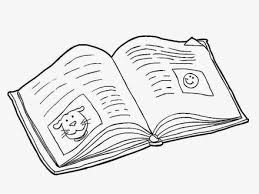 Gallery For Open Book Coloring Page