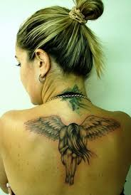30 Angel Tattoos For Girls Tattoo On Back Of Neck