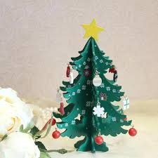 Desk Christmas Tree Cartoon Wooden Decorations For Home Noel New Year Gifts Ornament Table