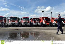 100 New Fire Trucks Sofia Bulgaria June 9 2015 Are Presented To