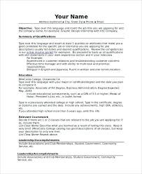 Examples Of Combination Resume Example Sample