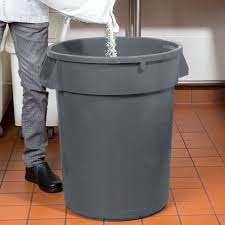 Under Cabinet Trash Can With Lid by Continental 32tuffgy 32 Gallon Gray Black Trash Can
