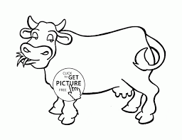 Good Cow Coloring Sheet Pages Printable Nice Page For Kids Animal Printables Sheets Medium Size