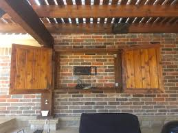 Outdoor Tv Cabinet Enclosure With Cabinets Bbq Kitchen And Care
