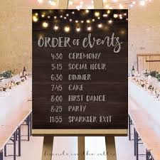 Printable Large Wedding Signs Rustic Ideas Ceremony Sign Day Schedule