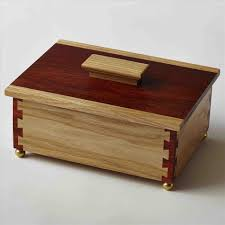Box And Padauk Keepsake With Cornerpost Dovetail Joints Buy A Custom Made Maple Walnut Turquoise Woodworking Jpg