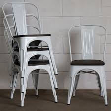 Set Of 4 White Metal Industrial Dining Chair Kitchen Bistro Cafe Vintage  Seat | EBay Designer Green Ding Chair On Black Metal Legs Modern Soft Us 4896 28 Offfashion Classic Stainless Steelleather Chairsliving Room Chairblack White Metal Leather Fniturein Ding Giantex Set Of 4 Chairs Pvc Iron Frame High Back Home Fniture White New Hw59220 Callisto And Steel Cantilever Chair Distressed Antique 2 Angelina Wood Lexi Pair Gold Linen Fabric Tolix Style Industrial Room Y120 White Ding Chair Chrome Metal Base By Grako Selections Buschman Matte Inoutdoor Stackable Tig In 2019 Giselle