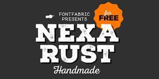 Nexa Rust Free Font
