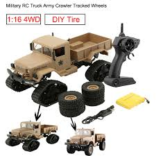 Hot Sale RC Truck Military Truck Army 1:16 4WD Tracked Wheels ...