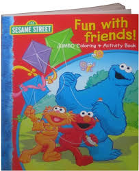 Lovely Design Jumbo Coloring Books Sesame Street Fun With Friends Book