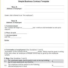 Simple Business Agreement Template In Free Templates Contract Sale