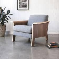 Gus Modern Lodge Fabric Arm Chair