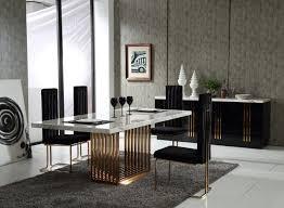 Marble Rosegold Dining Set