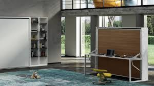 lit bureau armoire lit escamotable autoportant beddesk horizontal avec bureau