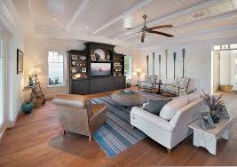 Inspired Rustic Entertainment Center Vogue Miami Tropical Family Room Image Ideas With Beadboard Ceiling Cabinet Fan Florida Living Island