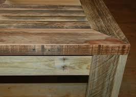 table en bois de cuisine table basse en palette au bout du bois