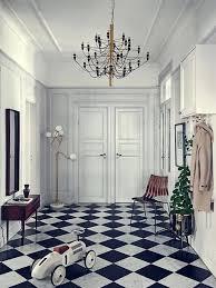 foyer flooring inspiration black white checkered tile black and