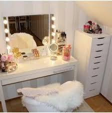 Makeup Vanity Table With Lights Ikea by Broke Expensive Taste Diy Decorating Pinterest