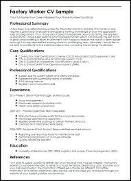Process Worker Resume Sample Download Free Factory Best Collection Of Our